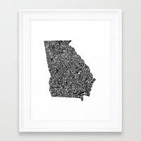 Typographic Georgia Framed Art Print