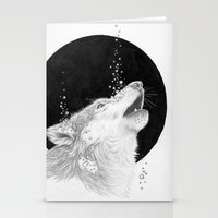 Black Wolf Stationery Cards