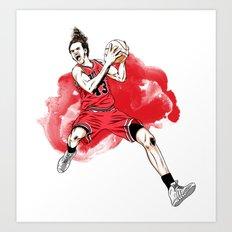 Joakim Noah  Art Print