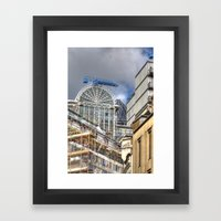 Gherkin Obscured Framed Art Print