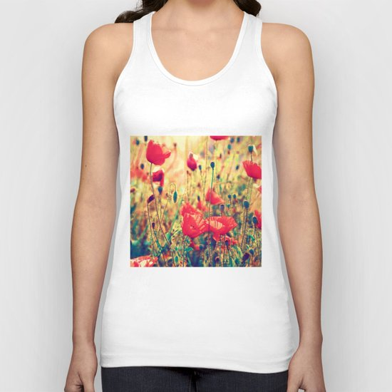 Morning Light - Poppy Field Unisex Tank Top