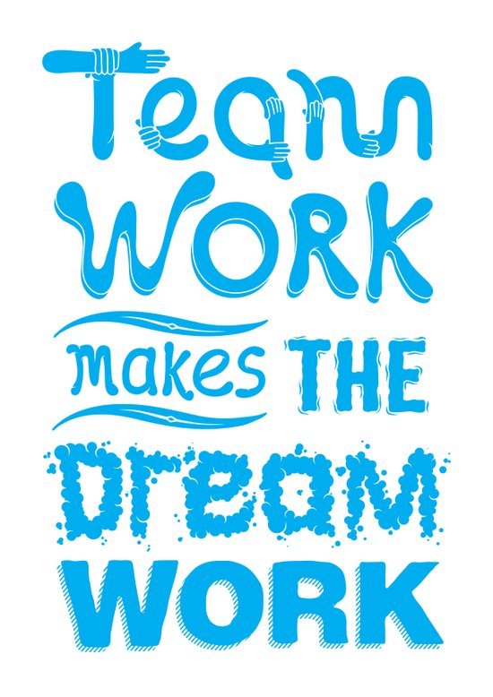Team Work Makes the Dreamwork Art Print