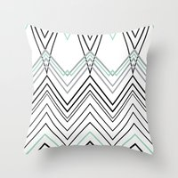Mint Chevy  Throw Pillow