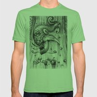 Fish Fall Mens Fitted Tee Grass SMALL