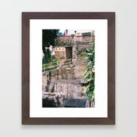Village homes in New Territories, Hong Kong Framed Art Print