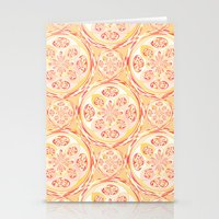 Geometric Pizza Pattern Stationery Cards