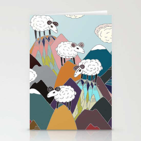 Clouds and Sheep Stationery Card