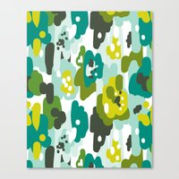 Painted Camo Canvas Print