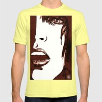 pop up Mens Fitted Tee Lemon SMALL