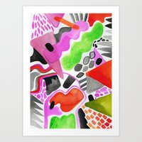 Vibrance Watercolour  Art Print