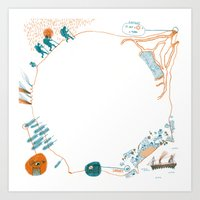 Journey to the Center of the Earth Art Print