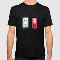 Smartphone Mens Fitted Tee Tri-Black SMALL