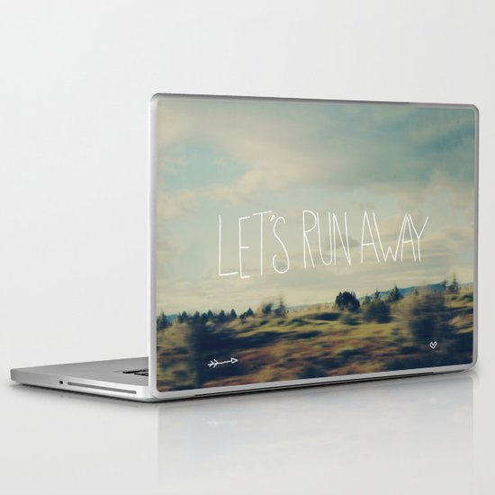 Let's Run Away Laptop & iPad Skin