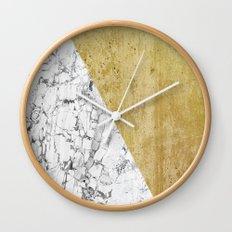 Marble vs GOld Wall Clock