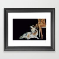 In The Company Of Wolf Framed Art Print