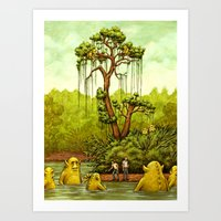 Please Don't Feed The Wi… Art Print