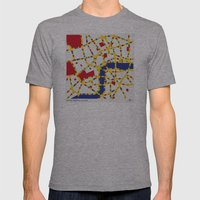 BOOGIE WOOGIE LONDON Mens Fitted Tee Athletic Grey SMALL