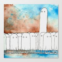 I Have A Hard Time Making Friends At Parties Canvas Print