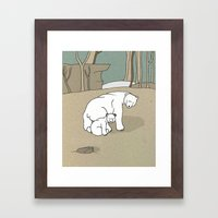Polar Bear Mother And So… Framed Art Print