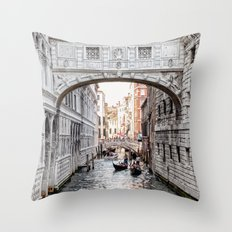 Bridge of Sighs, Venice, Italy (Lighter Version) Throw Pillow