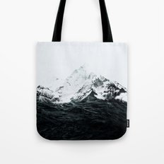 Those waves were like mountains Tote Bag