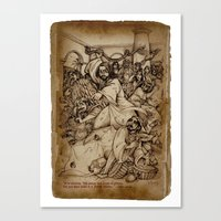 JC: Cleanses The Temple Canvas Print