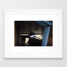 Blue Frame Motel, After Sandy Framed Art Print