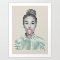 Bubblegum Jane Art Print