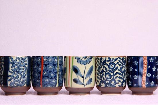 Japanese teacups Art Print