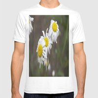 More flowers Mens Fitted Tee White SMALL