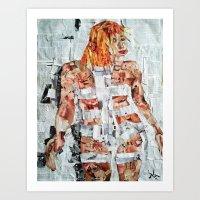 LEELOO THE FIFTH ELEMENT Art Print