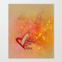 Kristin's Valentine Canvas Print