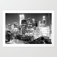Toronto Lights B&W Art Print
