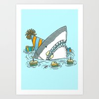 Birthday Shark II Art Print