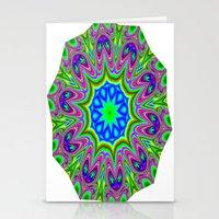 mosaic mandala Stationery Cards