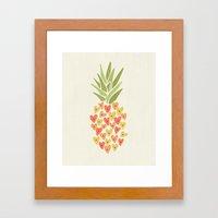 My Pineapple Valentine Framed Art Print