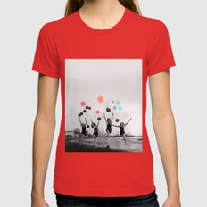 Vintage Women Womens Fitted Tee Red SMALL