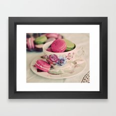 Macarons & Tea Framed Art Print