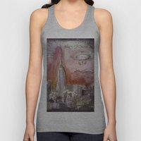 Boat over the City Unisex Tank Top