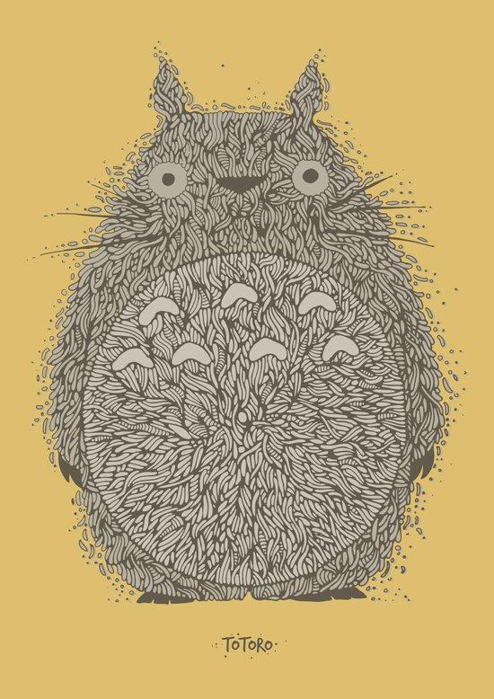 Yellow Totoro Art Print