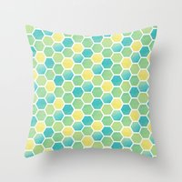 Summer Time Honeycomb Throw Pillow