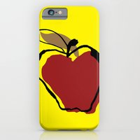 iPhone & iPod Case featuring STATIONERY CARD - Apple for Teacher by Negative Space