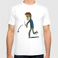 Cyclops Loves Baseball Mens Fitted Tee White SMALL