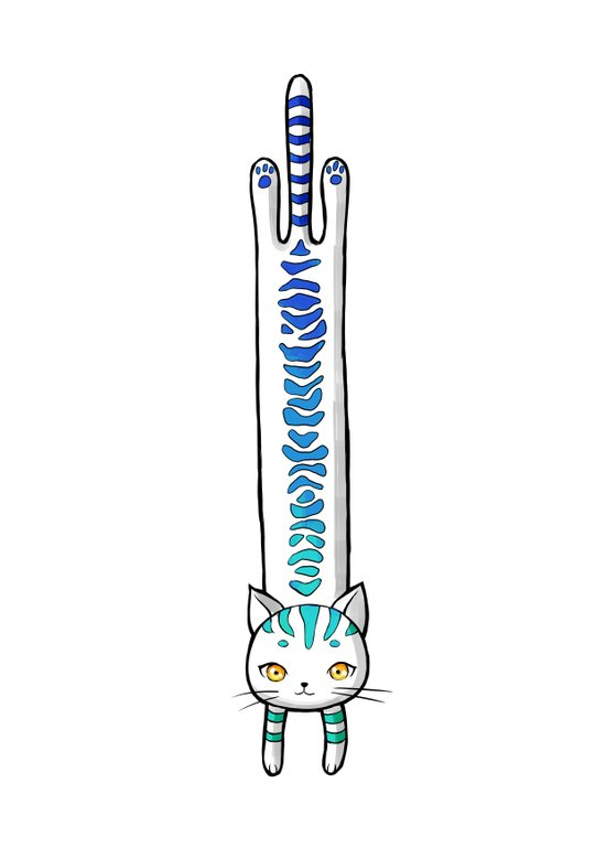 Long Cat Art Print