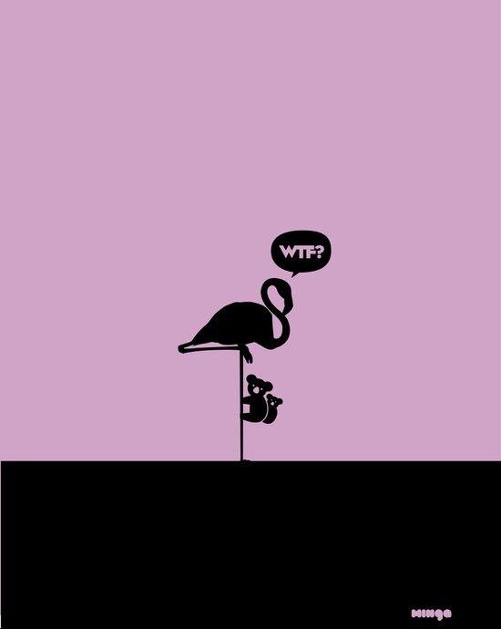 WTF? Flamenco! Art Print