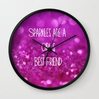 Sparkles Are A Girl's Be… Wall Clock