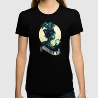 WICKED Womens Fitted Tee Black SMALL