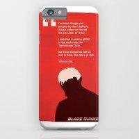 iPhone & iPod Case featuring BLADE RUNNER TEARS IN RAIN by Joe Pugilist Design