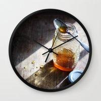 Sunlight And Honey - Kit… Wall Clock