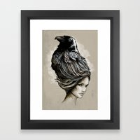 Raven Haired Framed Art Print